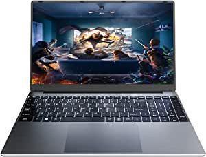 "Coolby 15,6 ""Slim PC, Super Light 2021 Intel J4115 4 Core 8 Go DDR4 Notebook, 256 Go SSD, 1080P Laptops, Windows 10 Pro High Speed Silet Gris"